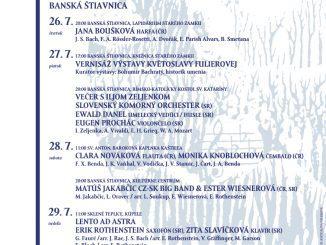 VBanskej Štiavnici bude znieť opäť pekná hudba –Festival peknej hudby