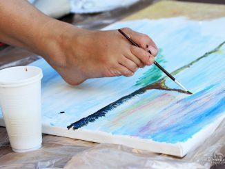 Pozvánka na vernisáž obrazov šikovnej maliarky Pavlíny!
