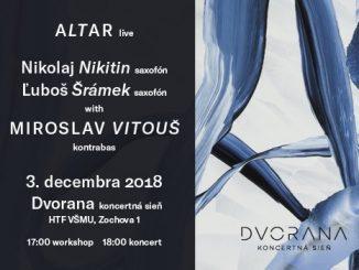 ALTAR live: Začiatok decembra vmene zvučných jazzových mien.