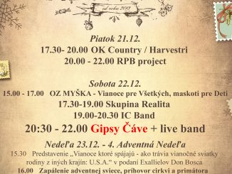 Piešťanské Vianočné trhy privítajú Gipsy Čáve so živou kapelou, Advent vyvrcholí vianočnými koncertmi Trepethe a Andreja Depeša.