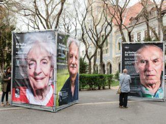 Post Bellum SK odprezentuje novú putovnú výstavu na Námestí SNP v Bratislave.