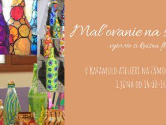 Maľba na sklo v Karamulo ateliéri - vyrobte si krásnu maľovananú fľašu