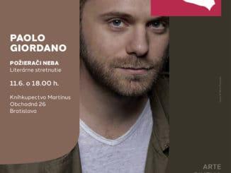 Do Bratislavy mieria spisovateľ Paolo Giordano ataliansky herec Enrico Lo Verso, hostia festivalu Dolce Vitaj.