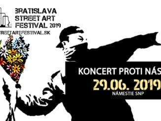 """Bratislava Street Art Festival 2019 – """"Umenie proti násiliu""""."""