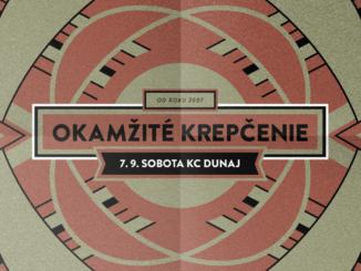 Okamžité krepčenie: 7. septembra v KC Dunaj.