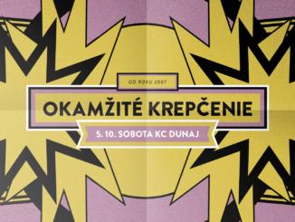 Okamžité krepčenie: 5. októbra v KC Dunaj!