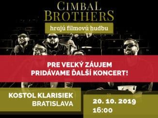 Cimbal Brothers zahrajú vkostole Klarisiek svetoznámu filmovú hudbu, pridávajú ďalší koncert!