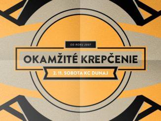 Okamžité krepčenie: 2. novembra v KC Dunaj!