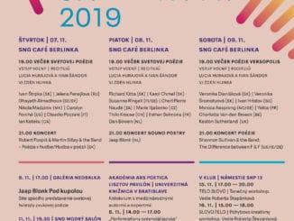 Festival poézie Ars Poetica 2019 – slová pulzujúce obrazmi.