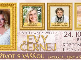 Výnimočne hlboká, zaujímavá, pozitívnou energiou nabitá talk show Evy ČernejŽiť život s vášňou, prichádza do srdca Slovenska.