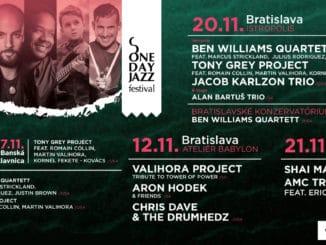 Otvárací koncert jesennej edície One Day Jazz Festivalu bude vréžii trojice Valihora – Hodek - Dave.
