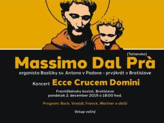 Massimo Dal Prà, organista Baziliky sv. Antona v Padove, vystúpi prvýkrát v Bratislave.