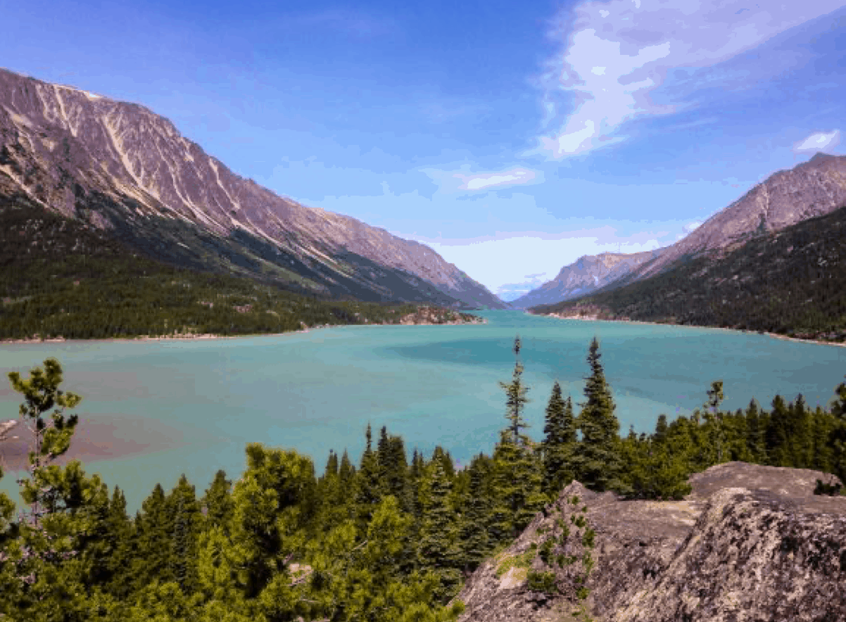 Bennett Lake, Yukon, Kanada – cíl Chilkoot trailu