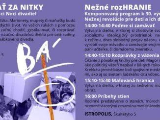 Nežné rozHRANIE – výročie Nežnej revolúcie oslávi Bratislavské bábkové divadlo špeciálnym programom.