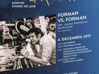 Kino Lumière už prekročilo hranicu stotisíc divákov avečer európskeho filmu oslávi sMilošom Formanom.