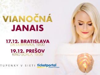 Hudobné Vianoce - VIANOČNÁ JANAIS? Speváčka Janais prinesie tie svoje do desiatok slovenských miest.