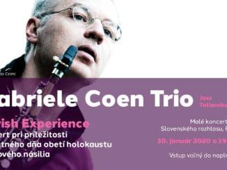 Jazzový koncert v podaní tria Gabriele Coen (sopránový saxofón a klarinet), Pietro Lussu (klavír) a Marco Loddo (kontrabas) - Taliansko