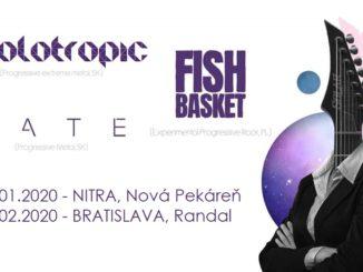 Holotropic, LATE, Fish Basket sa predstavia v Bratislave a Nitre.