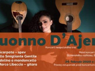 Koncert neapolského tria Suonno d'Ajere