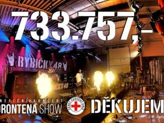 Skupina Rybičky 48 odehrála Corontena Show Live. Livestream koncert vynesl 821.271,- Kč. Částku obdrží Český červený kříž.