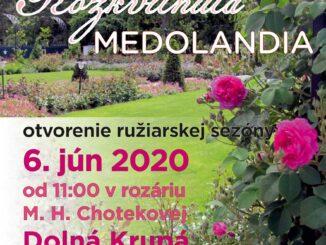 Slávnosť ruží v kaštieli v Dolnej Krupej.