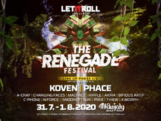 Let It Roll připravil na léto The Renegade Festival: 31. 7. - 1. 8. 2020 Beach Park Mlékojedy.