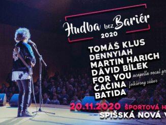 Na benefičnej akcii Hudba bez bariér vSpišskej Novej Vsi vystúpi po prvýkrát spevák Tomáš Klus!