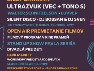 Najnovšie filmy Havel, Šarlatán a Meky, koncert Billyho Barmana, silent disco aj divadlá pre deti. Pozrite si program festivalu ART IN PARK Tr.Teplice.