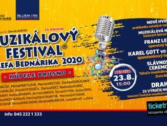 13. ročník Muzikálového festivalu Jozefa Bednárika: Informácia o zmene miesta konania festivalu.