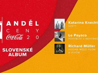 30. hudobné CENY ANDĚL COCA-COLA 2020 zverejňujú nominácie.V kategórii Najlepší slovenský album sú nominovaní Katarína Knechtová, Le Payaco aRichard Müller. Najviac nominácií má Lenka Dusilová.