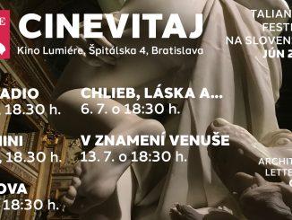 Pôsobivé dokumenty ovýznamných architektoch,sochároch azačiatky talianskej komédie – taká je ponuka prehliadky Cinevitaj.