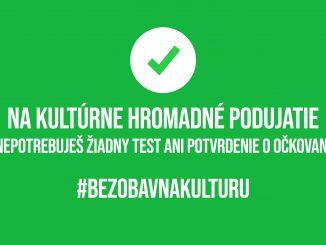 Bez obáv na kultúru.Na kultúrnom podujatí sa netreba preukazovať očkovaním ani testom.