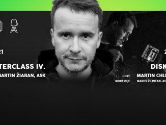 Pod hlavičkou Asociácie slovenských kameramanov sa uskutočnia dve masterclassy – Martin Žiaran bude hovoriť osvietení vhraných filmoch, Martin Chlpík oreklame.